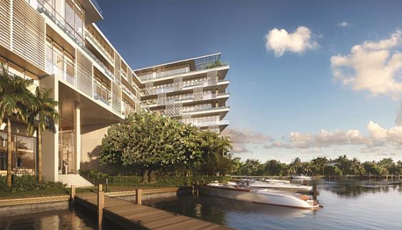Dockside Boat Slips at the Miami luxury condos of The Ritz-Carlton Residences, Miami Beach