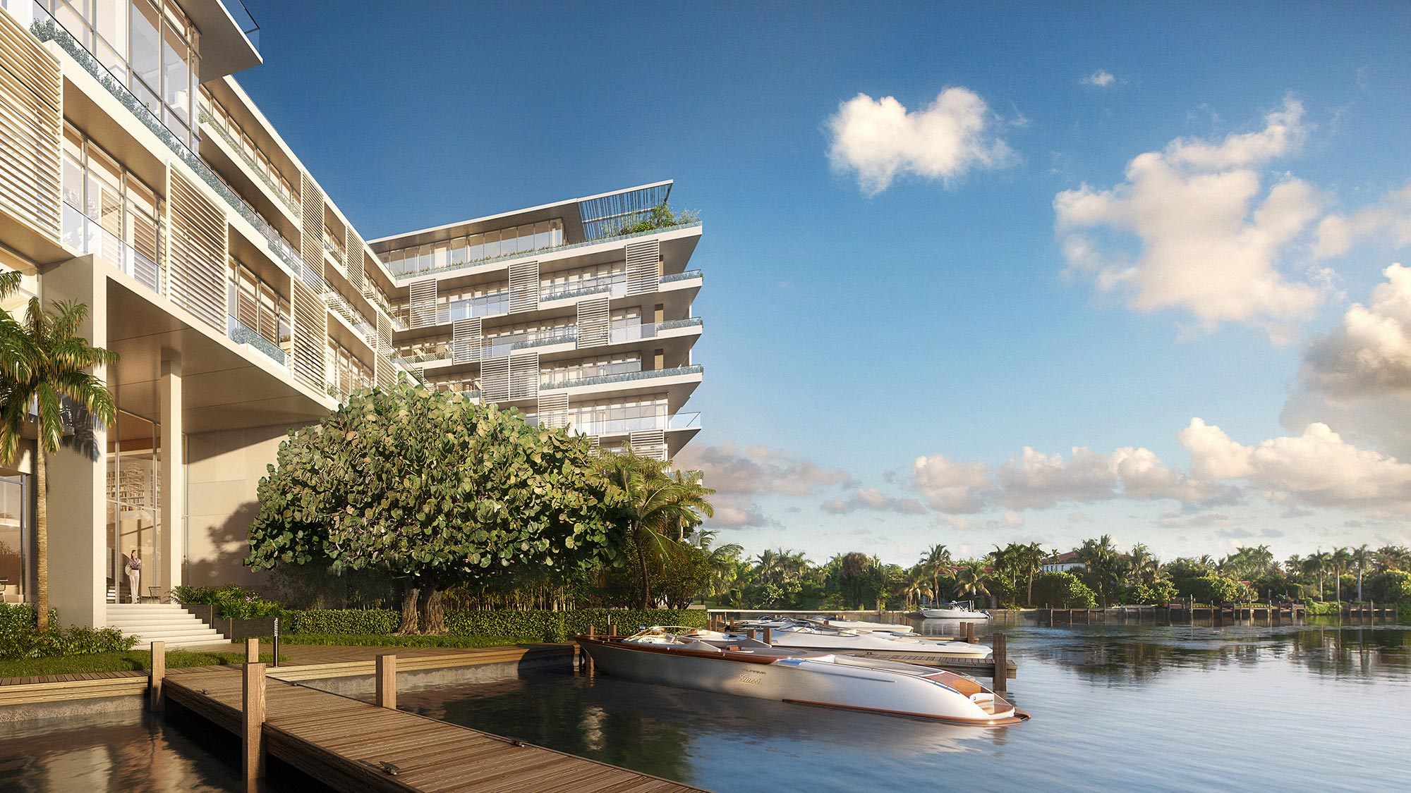 Dockside Boat Slips at the Miami luxury condos of The Ritz-Carlton Residences, Miami Beach