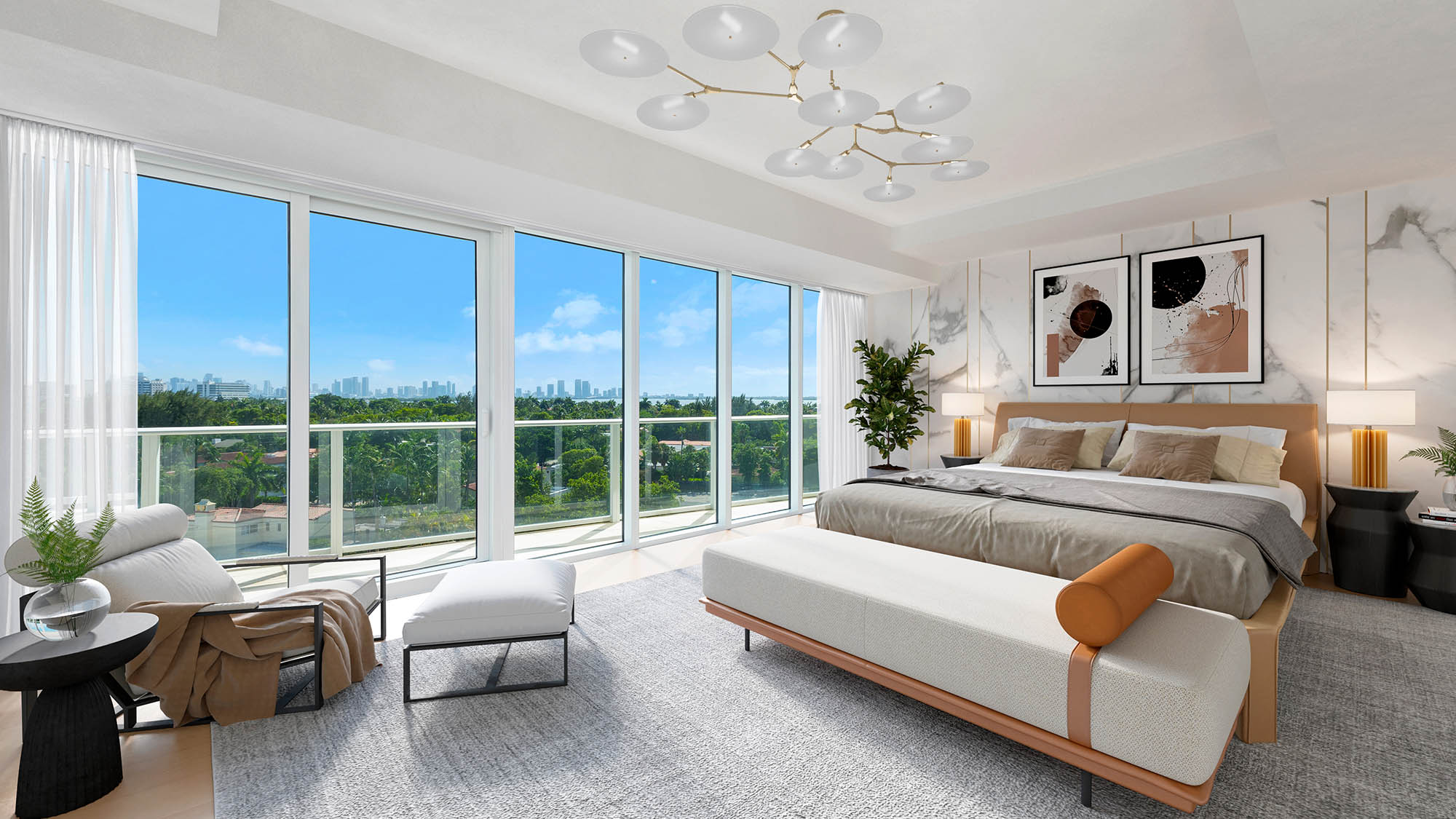 Expansive Terraces at the Miami luxury condos of The Ritz-Carlton Residences, Miami Beach