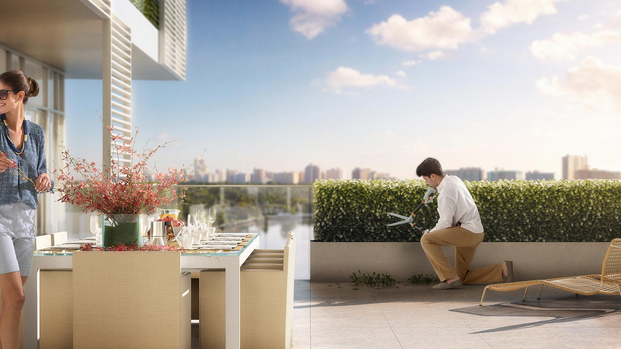 Private Garden Services at the Miami luxury condos of The Ritz-Carlton Residences, Miami Beach