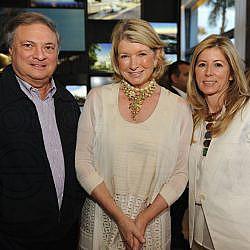 Jeffrey Loria, Martha Stewart, & Julie Loria