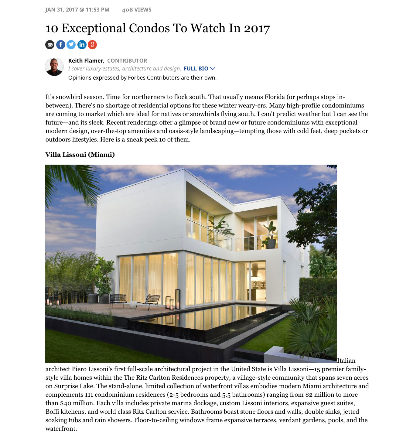 Forbes top Miami luxury condos for sale
