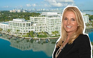 Petra Levin in front of The Ritz-Carlton Residences, Miami Beach