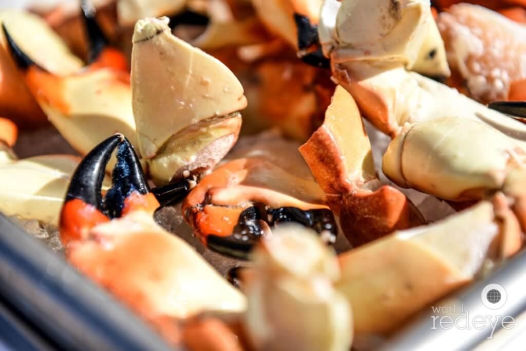 stone crabs & rosé