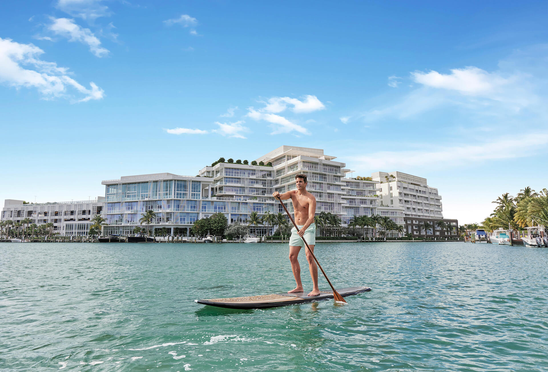 Ritz Carlton Residences Miami Beach Paddle Boarding